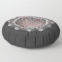 Flower of Life + Metatrons Cube Floor Pillow