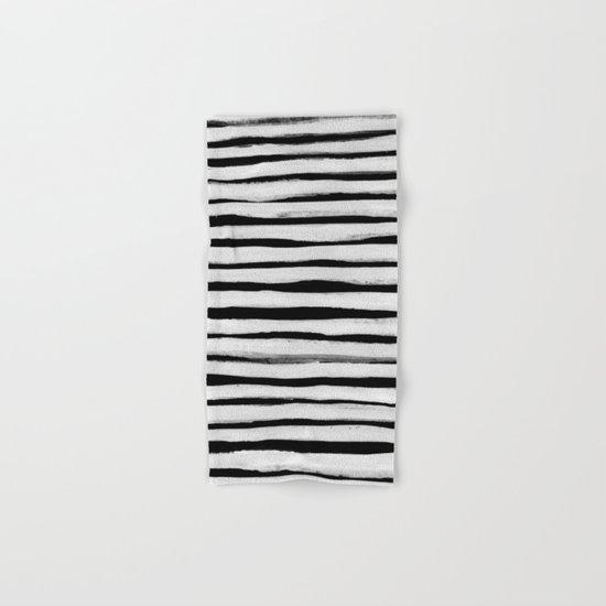 Black and White Stripes II Hand & Bath Towel