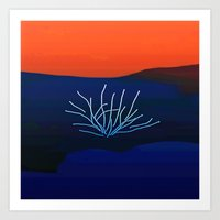 desert Art Prints featuring Desert by lillianhibiscus