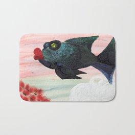 Red Lip Fish Bath Mat