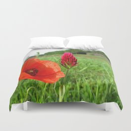 Pink Rose Petal Duvet Cover