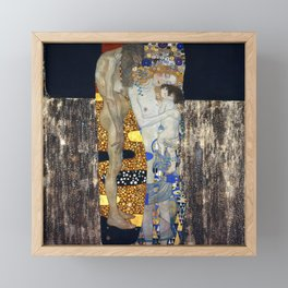 The Three Ages of Woman by Gustav Klimt Framed Mini Art Print