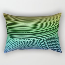 Abstract wave art - rainbow colors Rectangular Pillow