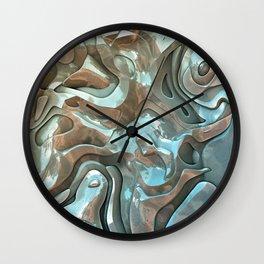 Abstract Metallic Layers  Wall Clock