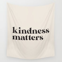 Kindness Matters - Black Wall Tapestry