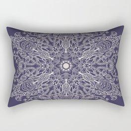 Spring Garden Mandala Ultra Violet Rectangular Pillow