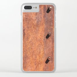 Old Gold Mining Iron Sheets made into Street Lights. Clear iPhone Case
