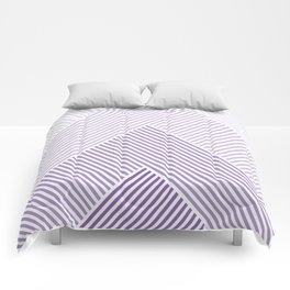 Shades of Purple Abstract geometric pattern Comforters