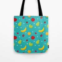 fruits Tote Bags featuring fruits by Irina Novikova