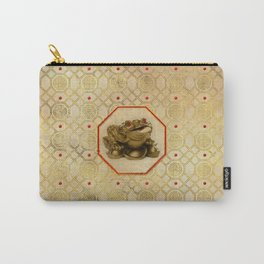 Three Legged Lucky Money Frog /Toad Feng-shui Carry-All Pouch