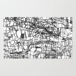 deconstructed knit Rug