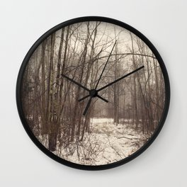 Bare Woods Wall Clock