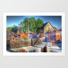 Western Yard Art Print