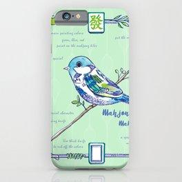 Sparrow Mahjong iPhone Case