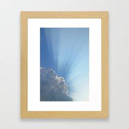 Blessings from above Framed Art Print