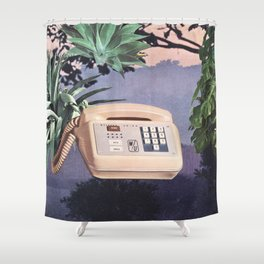 Late Nite Phone Talks Shower Curtain