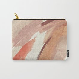 Aly: minimal | pinks | white | black | mixed media | abstract | ink | watercolor | wall art Carry-All Pouch