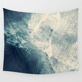 Ice Blue Surf Wall Tapestry