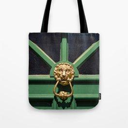 Lion Head Door Knock Tote Bag