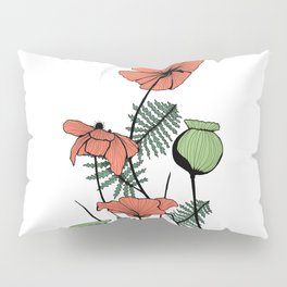 Poppies in Color Pillow Sham