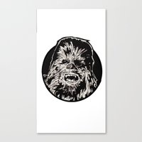 chewbacca Canvas Prints featuring Chewbacca by LaurenNoakes