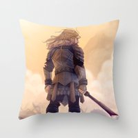 fili Throw Pillows featuring Fili by MaliceZ