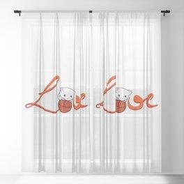 Love Cat Sheer Curtain