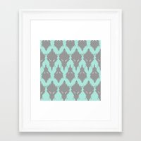 persian Framed Art Prints featuring Persian Textile by Nahal