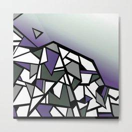 Lavender Hills geometric landscape vector art Metal Print