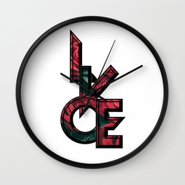 Love you to death valentine's day Wall Clock
