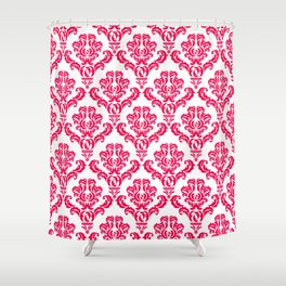 DAMASK PINK RED Shower Curtain