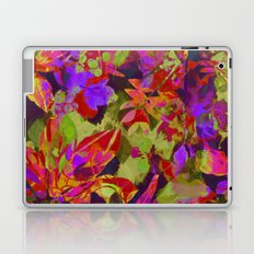 colorful floral with purple accent Laptop & iPad Skin