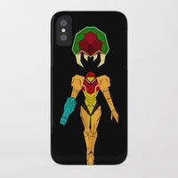 metroid iPhone & iPod Cases featuring Metroid by A Strom