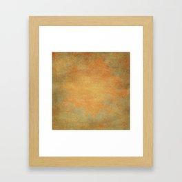 Grunge Garden Canvas Texture:  Ancient Gold Floral Abstract Framed Art Print