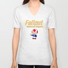 Fallout: Mushroom Kingdom Unisex V-Neck