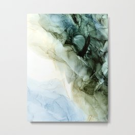 Land and Sky Abstract Landscape Painting Metal Print