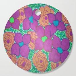 Bold Summer Flowers Cutting Board