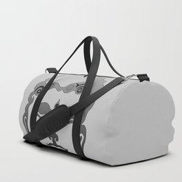 Buddha Head grey black Design Duffle Bag