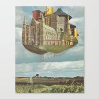 laputa Canvas Prints featuring Laputa by Nicholas Lockyer