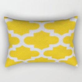 Yellow Cross Pattern Rectangular Pillow