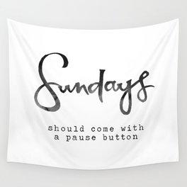 Sundays Wall Tapestry