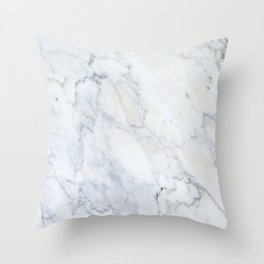 Luxury Gray Marble Throw Pillow