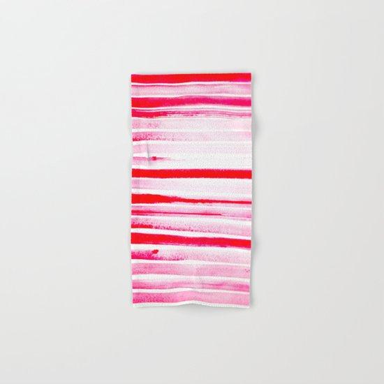 Christmas Candy Cane Red Stripe Hand & Bath Towel