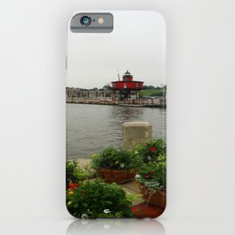 Seven Foot Knoll Light - Baltimore Inner Harbor iPhone Case