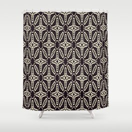 ETHNIC GEOMETRIC BLACK AND WHITE PATTERN Shower Curtain