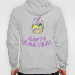 happy easter with basket Hoody