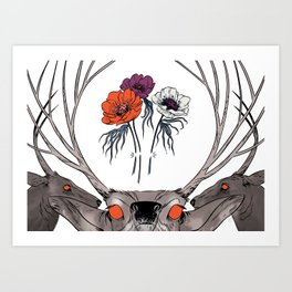 White as Milk, Red as Blood: Brothers Art Print