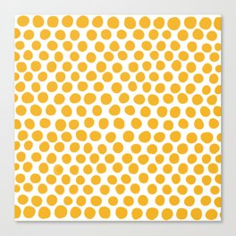 Honey Gold Dots - White Canvas Print