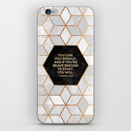 If you're brave enough / Design Milk Collab. iPhone Skin