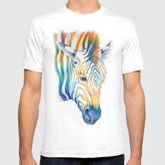 Zebra Mens Fitted Tee MEDIUM White